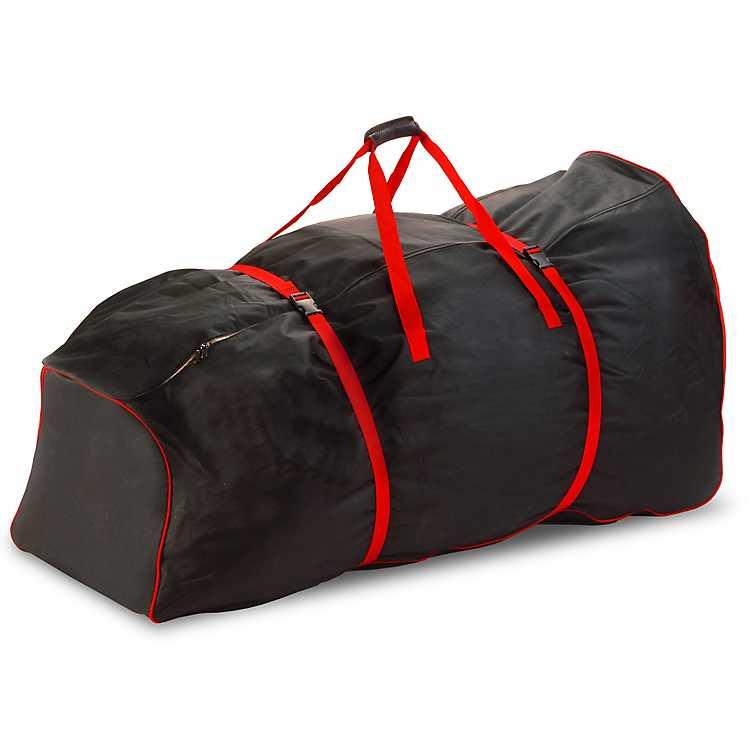 rolling black 9 ft christmas tree storage bag - Rolling Christmas Tree Storage Bag