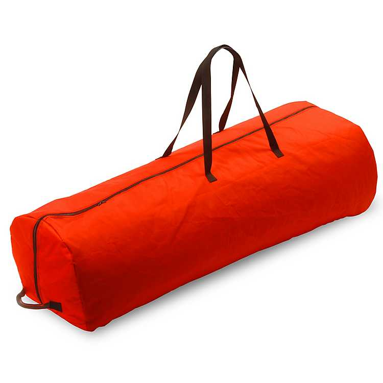 rolling red 75 ft christmas tree storage bag - Rolling Christmas Tree Storage Bag