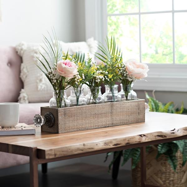Wood Knob Vase Runner