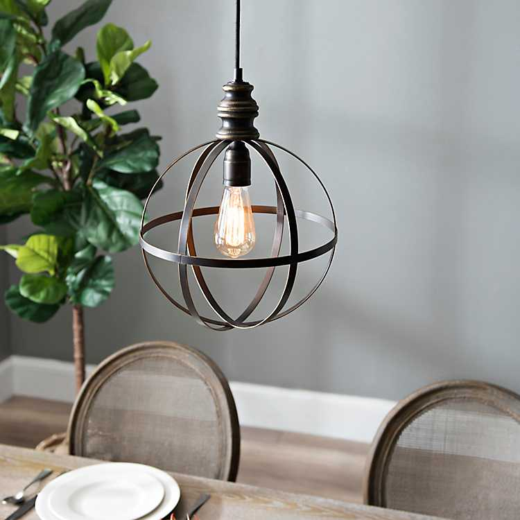 Bronze Metal Fortune Pendant Light