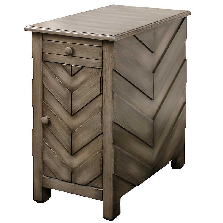 Chevron Accent Table With Charging Station Kirklands