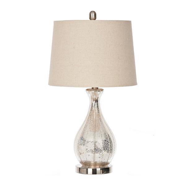 Alyson Beaded Mercury Glass Table Lamp