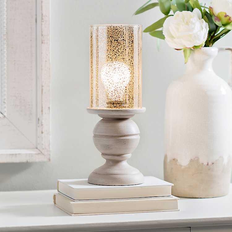 Ashton Cream And Mercury Glass Uplight Kirklands