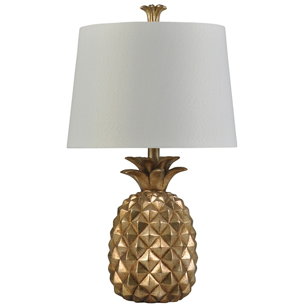 Golden pineapple table lamp kirklands