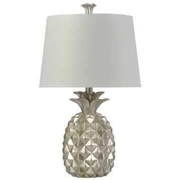 Silver pineapple table lamp kirklands aloadofball Image collections