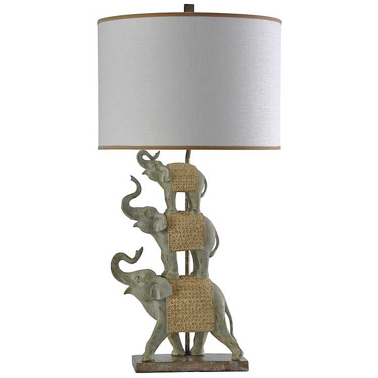 Stacked Blanketed Elephants Table Lamp ...