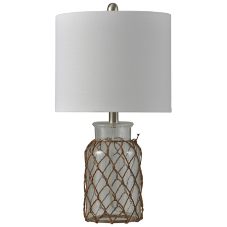 Clear seeded glass netted jar table lamp kirklands aloadofball Images