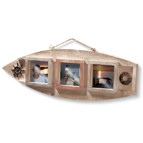 Nautical Wood 3-Opening Collage Frame, 4x4 | Kirklands