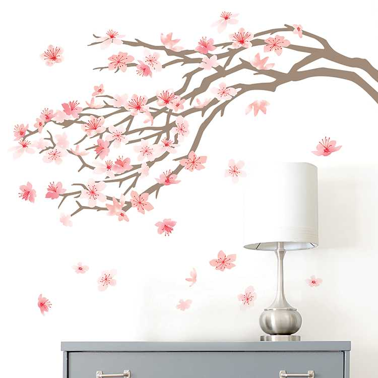 Product Details Pink Cherry Blossom Tree Wall Decal