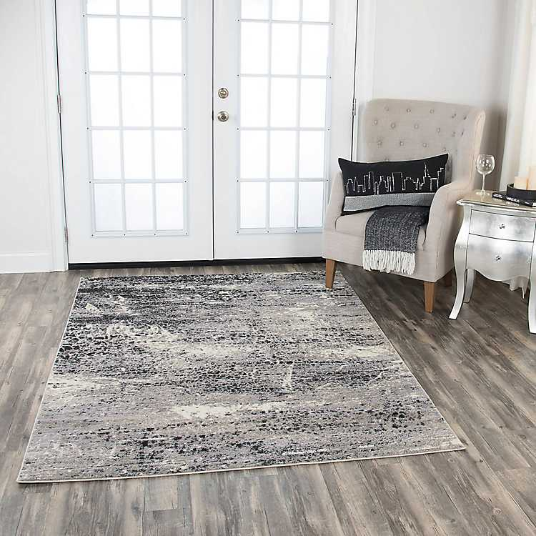 Edward Abstract Scales Area Rug, 5x7