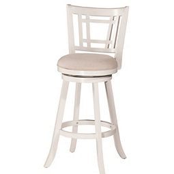 Bristol White Swivel Bar Stool