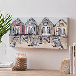 Beach Houses Canvas Art Print