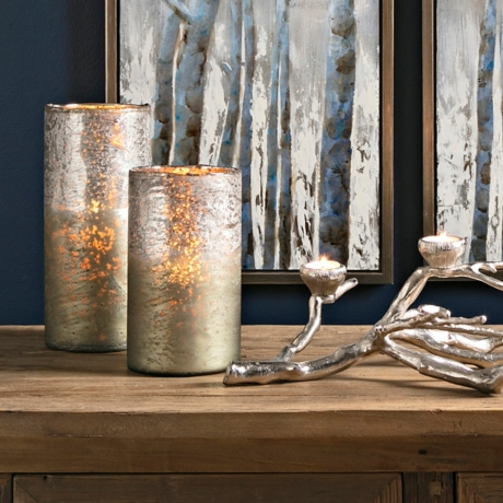 Zander Ombre Silver Mercury Glass Vases Set Of 2 Kirklands