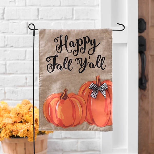 Happy Fall Y'all Pumpkin Flag Set