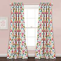 Mermaid Print Curtain Panel Set