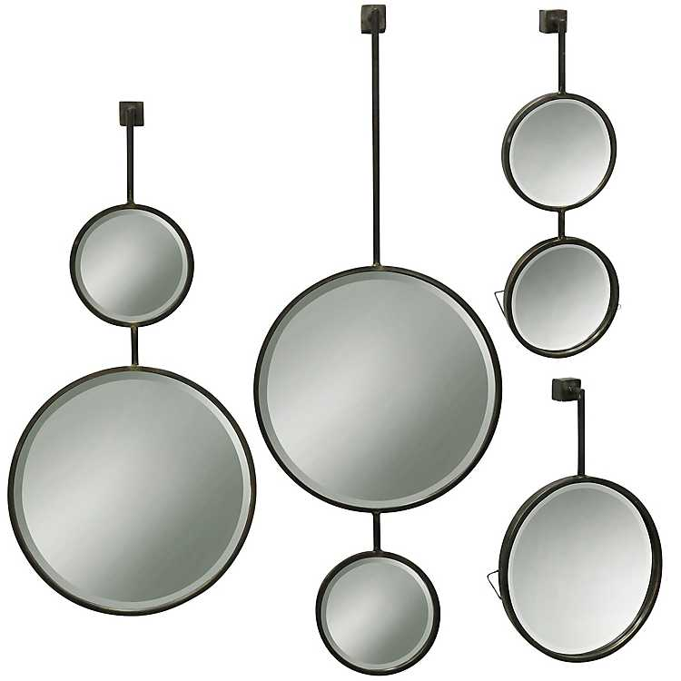 Droplet Metal Beveled Wall Mirrors Set Of 4 Kirklands