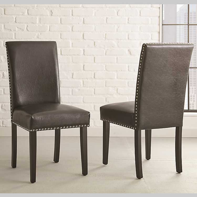 Charming Verano Black Parsons Chairs, ...