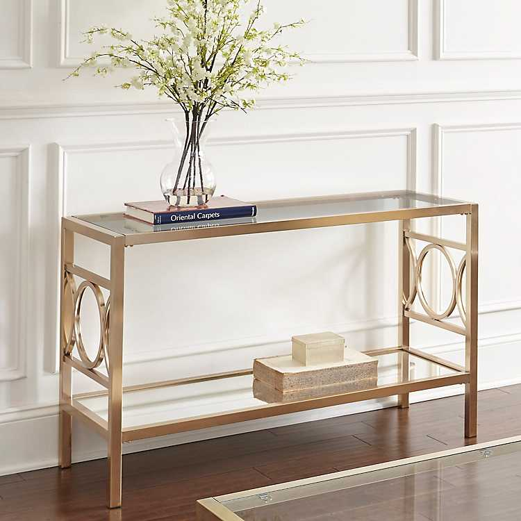 Olympia Gold Chrome Console Table ...