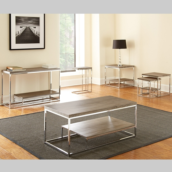Lucia Chrome Coffee Table Kirklands