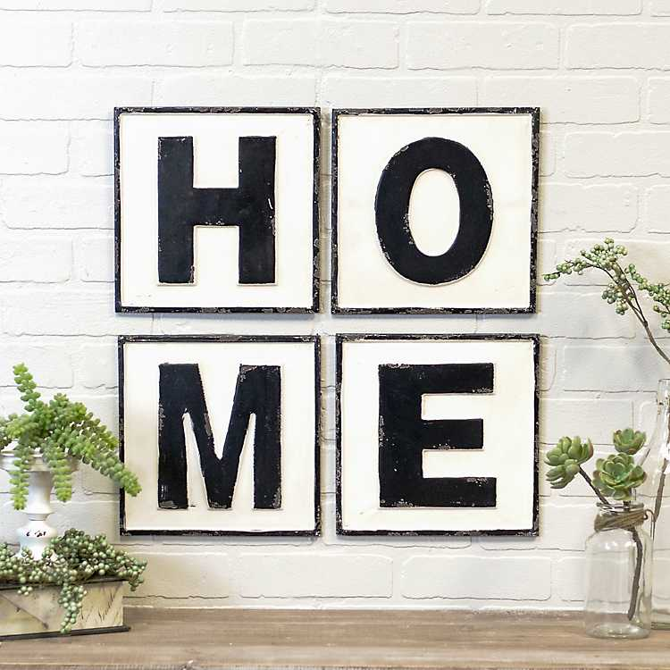 home vintage metal letters wall signs