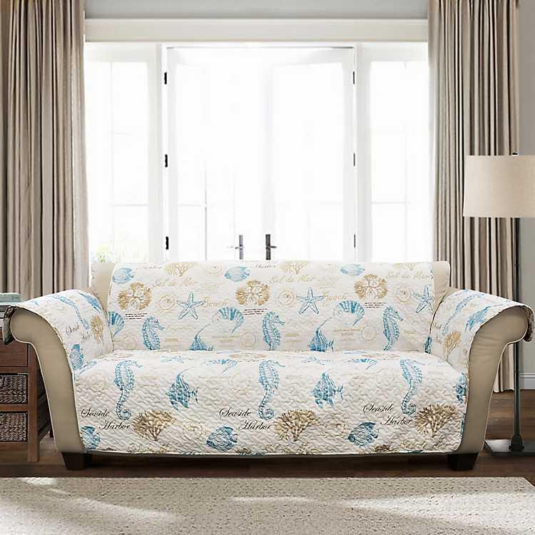 Blue Sea Life Sofa Protector Kirklands
