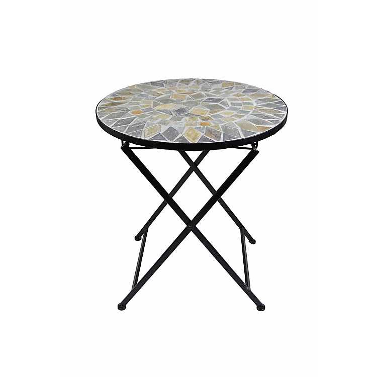 Superbe Mosaic Round Outdoor Side Table ...