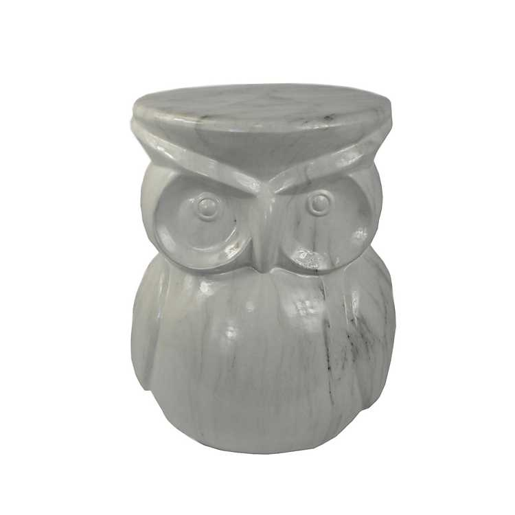 Genial Marble Owl Garden Stool ...