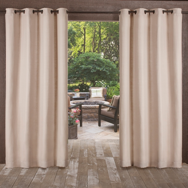 Taupe Delano Outdoor Curtain Panel Set