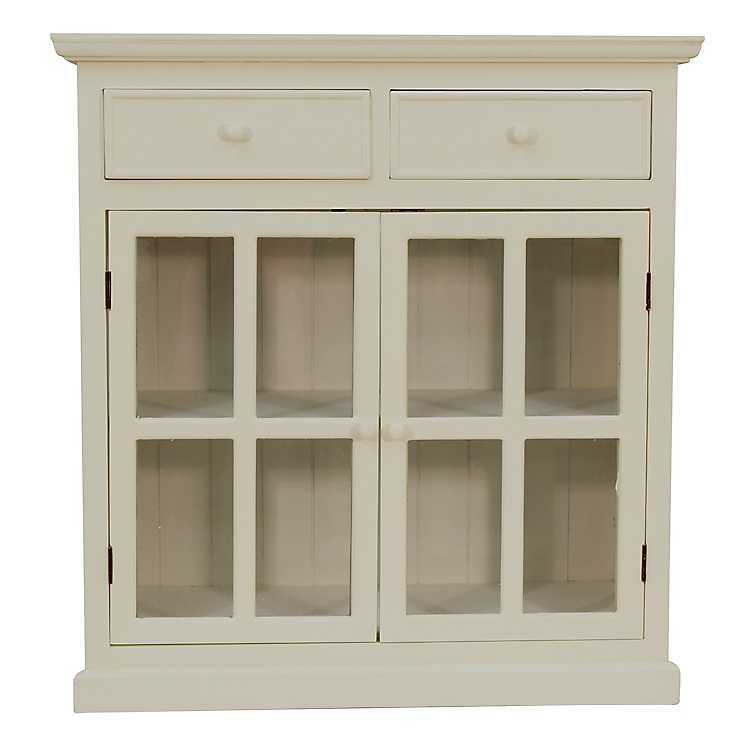 Lennon Antique White Cabinet ... - Lennon Antique White Cabinet Kirklands