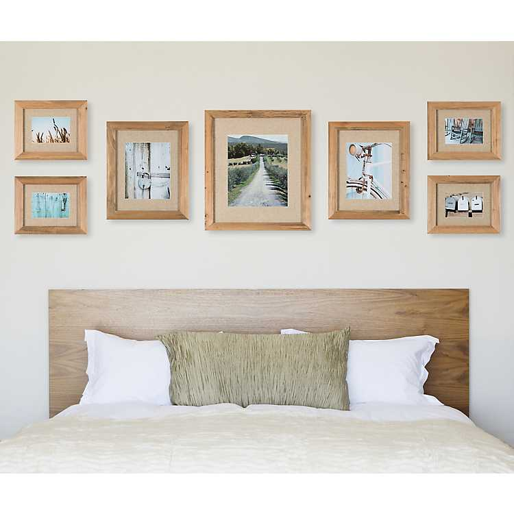 7-Pc. Rustic Wood Collage Frame Kit   Kirklands