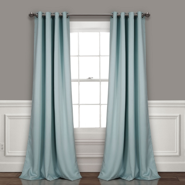 Blue Insulated Blackout Curtain Panel Set, 95 In.