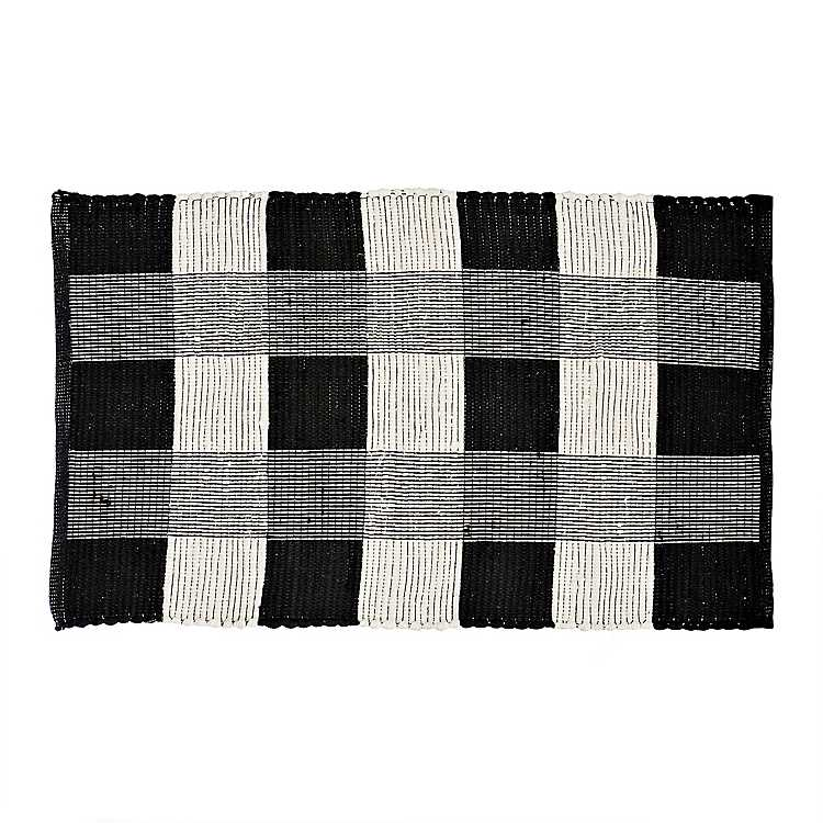 Product Details Black And White Buffalo Check Accent Rug