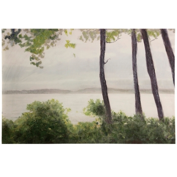 Lakeside Landscape Canvas Art Print | Kirklands