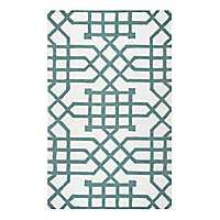 Sage Geometric Outdoor Area Rug
