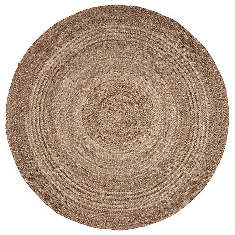 Jute Braided Round Area Rug 4 Ft