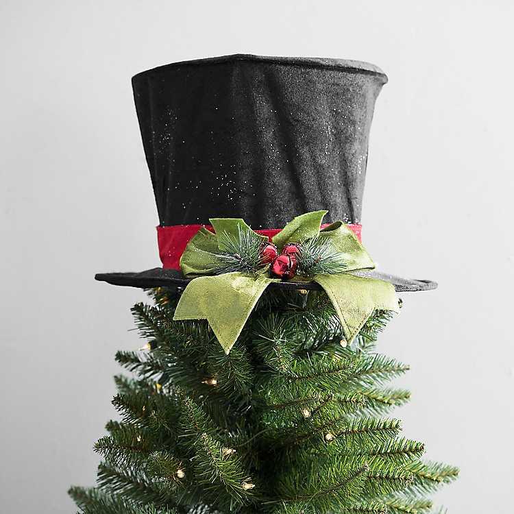 Product Details. Black Flocked Top Hat ...