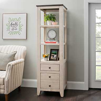 Cream Franklin 2-Drawer Shelf