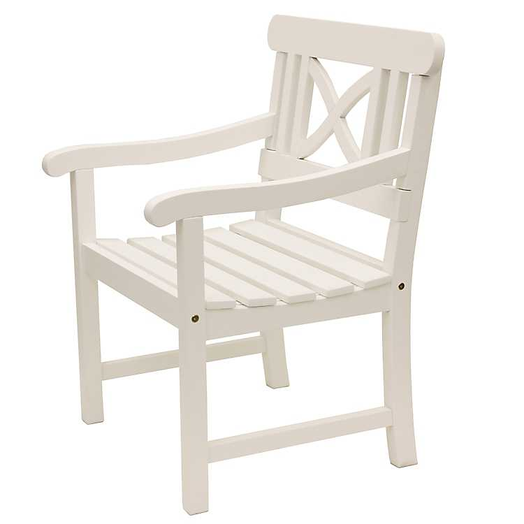 Superbe Gatsby Geometric White Outdoor Chair ...