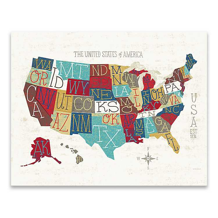 Colorful USA Map Canvas Art Print on map curtains, cool world map art, map of western united states, gold glass art, map drawing art, united states map art, map of eastern united states, map color art, map framed art, brown abstract art, map home decor, map modge podge art, map mediterranean, map design, diy map art, map art prints, map pencil art, map border art, map wall decals, map food art,