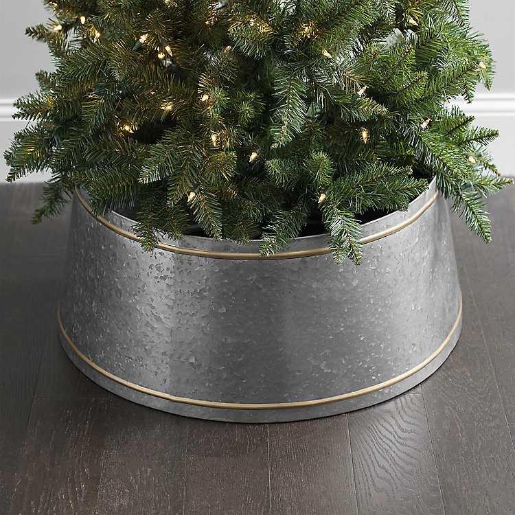 Galvanized Metal Christmas Tree Collar