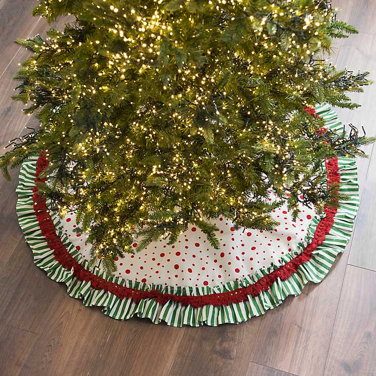 Polka Dot Christmas Tree Skirt | Kirklands
