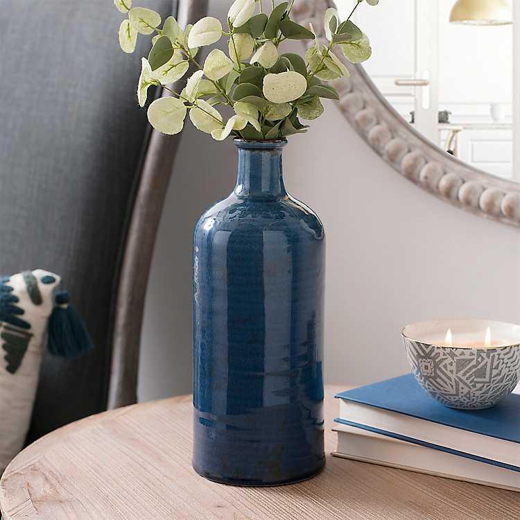 Denim Blue Ceramic Vase Kirklands