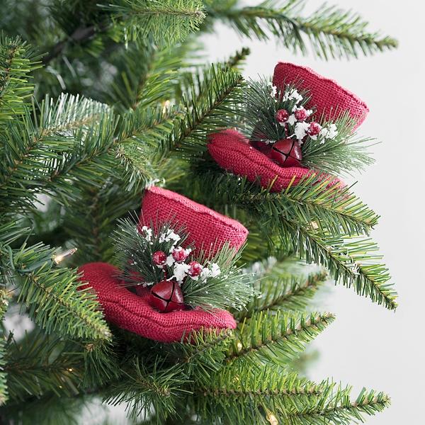 Christmas Top Hat.Red Christmas Top Hat Picks Set Of 2 Kirklands