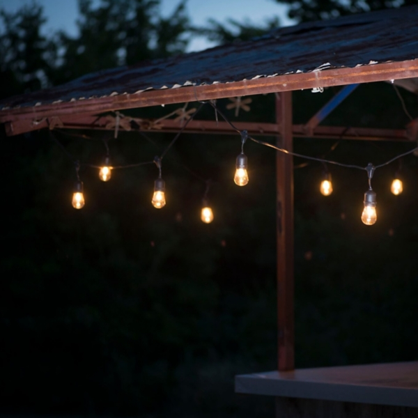 Suspended Clear Bulb String Lights