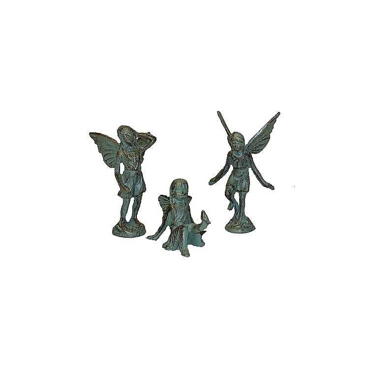 Product Details. Cast Iron Garden Fairy Figurines ...
