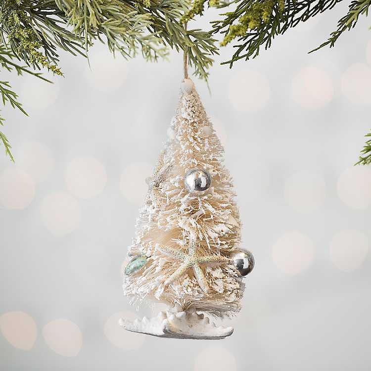 Coastal Sisal Christmas Tree Ornament | Kirklands