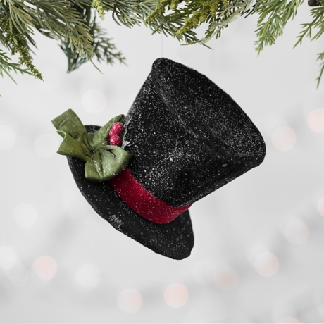 black top hat christmas ornament kirklands - Top Hat Christmas Decorations