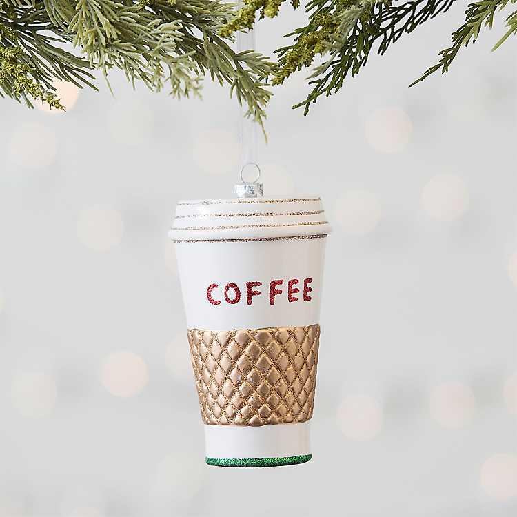 Coffee Christmas Ornament.Coffee Christmas Ornament