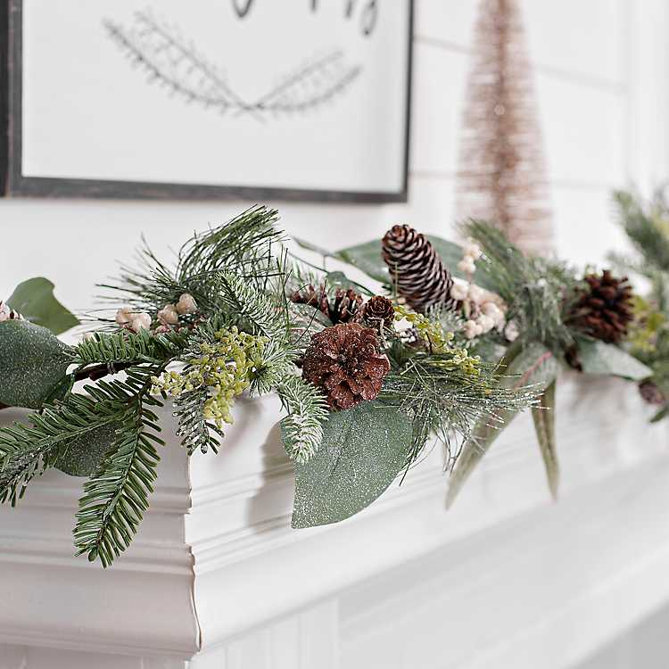 Product Details Eucalyptus Sparkle Christmas Garland