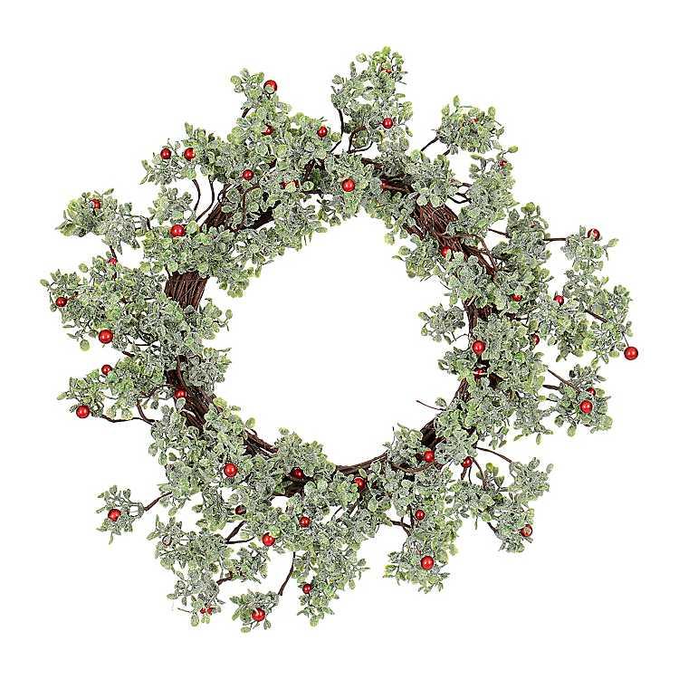 Mistletoe Berry Shimmer Christmas Wreath   Kirklands